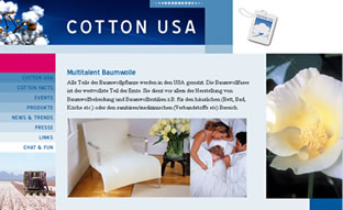 Webseite - Cotton U.S.A.